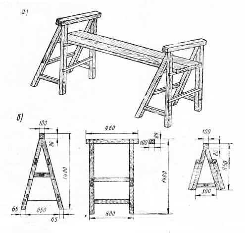 Строительные козлы своими руками чертежи из металла 51